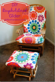 Nursery Glider Rocking Chair How To Recover A Nursery Glider Design Dazzle