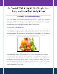 liquid diet weight loss by waterproofvideocameraas issuu