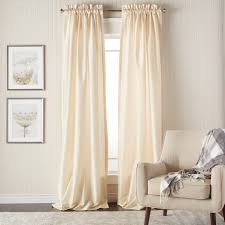 Curtain Pair Heritage Landing 96 Inch Faux Silk Lined Curtain Pair Free