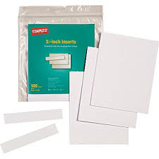 Suspension Folders For Filing Cabinets Staples Hanging File Folder Tab Inserts 100 Pack Staples