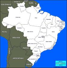 Blank State Map Printable Map Of Brazil You Can See A Map Of Many Places On The