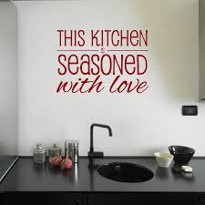 seasoned with love kitchen wall sticker mirrorin seasoned with love kitchen wall sticker wine red