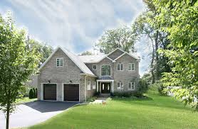 custom colonial style home built by big sky custom homes in bergen