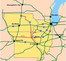 Illinois Interstate Map by Welcome To The City Of Barry Illinois