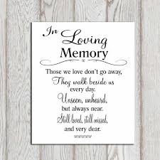 in loving memory wedding in loving memory printable memorial table wedding by dorindaart