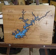 Lake Lanier Map Lake Sidney Lanier Georgia Laser Engraved Map