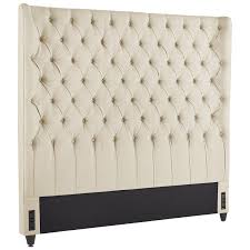 audrey ii upholstered flax wingback headboard pier 1 imports