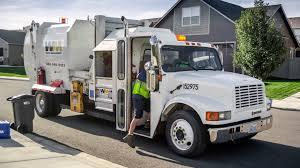 international 4900 wayne tomcat garbage truck w kann recycle