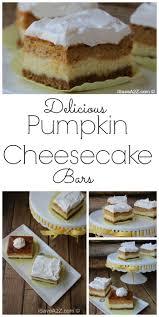 easy pumpkin cheesecake bars recipe with graham cracker crust