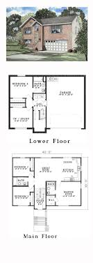 split floor plan house plans split level house plans modern 1955 plan horizon three lhs2546