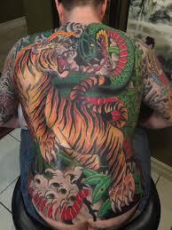 snake tiger tattoo tattoos by jason loui