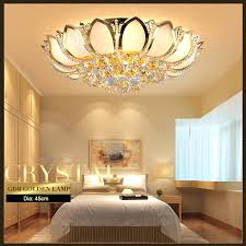 European Ceiling Lights Gold Bedroom Ceiling Light Modern Lotus Flower Ceiling