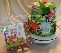 peggy does cake molly u0027s fisher price rainforest baby shower cake