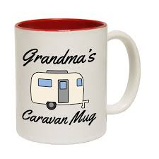 Novelty Coffee Mugs grandmas caravan mug novelty coffee mug novelty camping camper