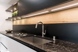kitchen wall cabinets black gloss modern kitchen wall unit with snaidero s way lift up
