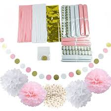 pink and gold baby shower decorations qian s party baby pink gold white baby shower decorations for girl