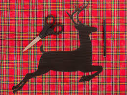 create a reindeer silhouette for holidays with fabric and an