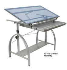 Drafting Table Pad Avanta Glass Top Drafting Table By Studio Designs 40 00 Shipping