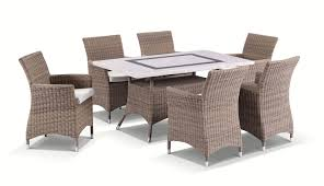 travertine dining table and chairs caesar 6 7pc travertine stone outdoor table setting with half