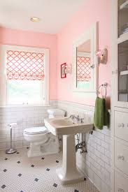 adorable pink u0027s bathroom with pink paint color paired with