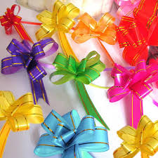 car ribbon 10pcs pull bow ribbons gift wrap wedding car decoration ribbon