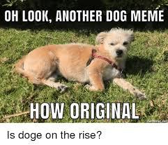 Doge Meme Original - oh look another dog meme how original mematicine is doge on the