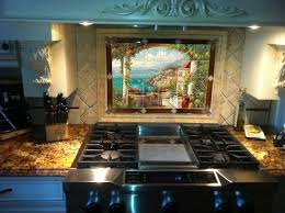 image result for italian mural with updated tile decor in