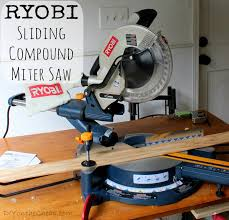 compound miter saw vs table saw my new toy ryobi sliding compound miter saw review erin spain