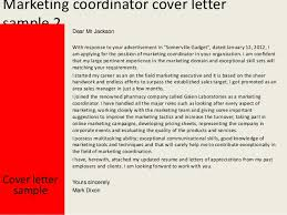 perfect sample cover letter for marketing coordinator 45 on