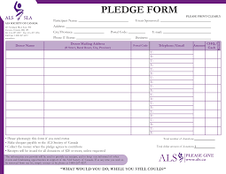 Pledge Sheets For Fundraising Template donation pledge form template selimtd