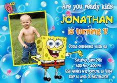 spongebob birthday party invitation printable spongebob