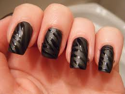 black nail designs matte black zebra nails things