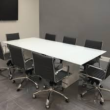 Modern Meeting Table Modern Custom Conference Tables With White Glass