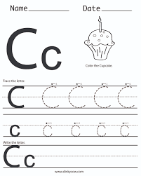 Writing The Alphabet Worksheets Preschool Letter C Writing Practice