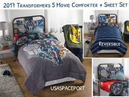 Transformer Bed Set 6pc 2017 Transformers 5 Comforter Sham Sheets Set