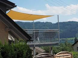 sonnensegel befestigung balkon sonnensegel viereck quadrat sonnenschutz beschattung sonnendach