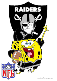 oakland raiders coloring pages spongebob oakland raiders by bubbaking on deviantart