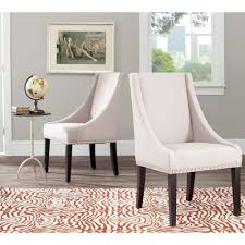Set Of Chairs For Living Room by Home Decorators Collection Jacques Natural Linen Flared Back Side