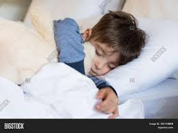 Bed Eyes Sweet Child Sleeping Bed His Teddy Image U0026 Photo Bigstock