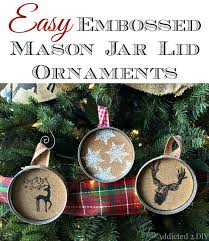 embossed jar lid ornaments