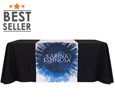 trade show table runner table runners create a customized table runner totallypromotional