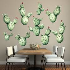 Watercolor Wallpaper For Walls by Cactus Watercolor Wall Decal Kit Succulent Wall Mural By Chromantics
