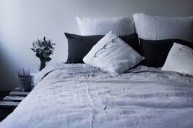 soft silver linen button duvet cover sevensmith