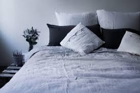 Blue Linen Bedding - soft silver linen button duvet cover sevensmith