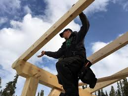 hand building a timberframe shed deck roof ana white woodworking