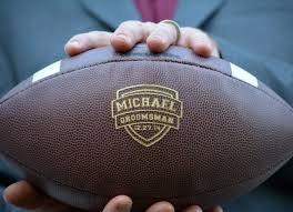 engraved football gifts groomsmen football personalized wedding gift college