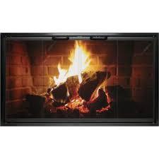 ez door plus zero clearance fireplace door with anodized aluminum