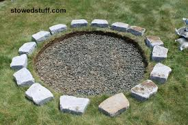 fire pit sand how to build a fire pit stowed stuff