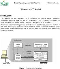 wireshark introduction tutorial wireshark tutorial figure 1 packet sniffer structure pdf