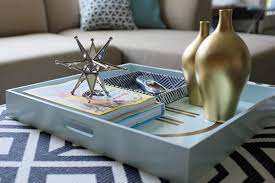 decorate coffee table styling tips for decorating with trays